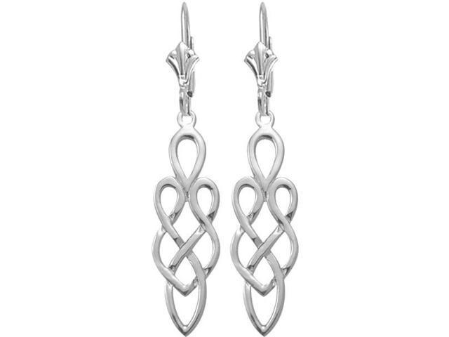 Genuine Sterling Silver Celtic Style Earrings