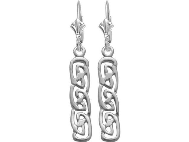 Celtic Style Genuine Sterling Silver Earrings