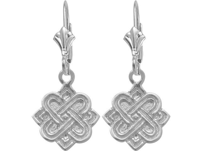 Genuine Sterling Silver Four Point Celtic Knot Earrings