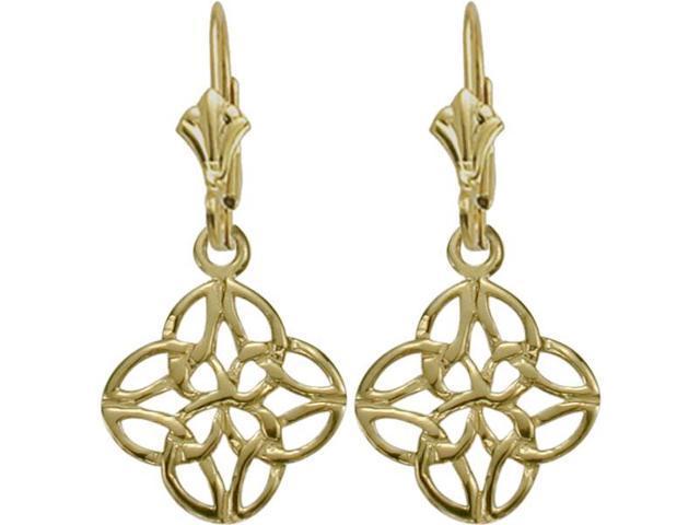 Celtic 10 Karat Yellow Gold Knot Earrings