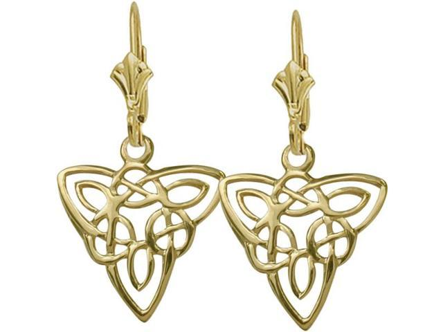 10 Karat Yellow Gold Celtic Style Knot Earrings
