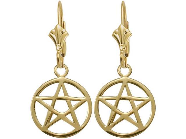 10 Karat Yellow Gold Celtic Star Earrings