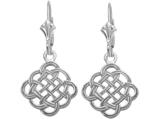Celtic Genuine Sterling Silver Knot Earrings
