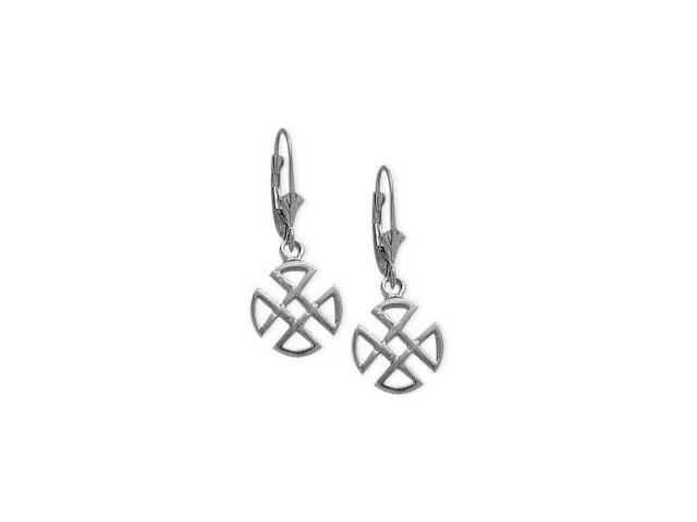 Genuine Sterling Silver Four Trinity Celtic Earrings