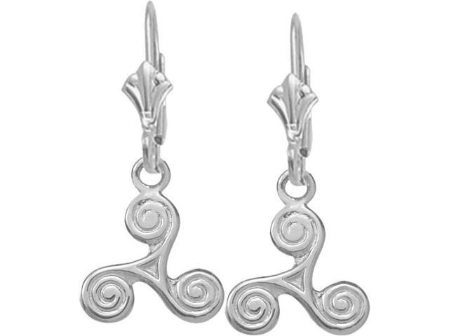 Genuine Sterling Silver Triskele Celtic Earrings