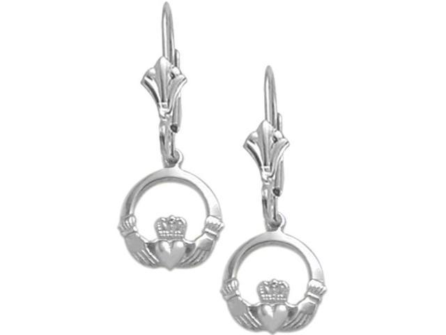 Genuine Sterling Silver Celtic Leverback Earrings