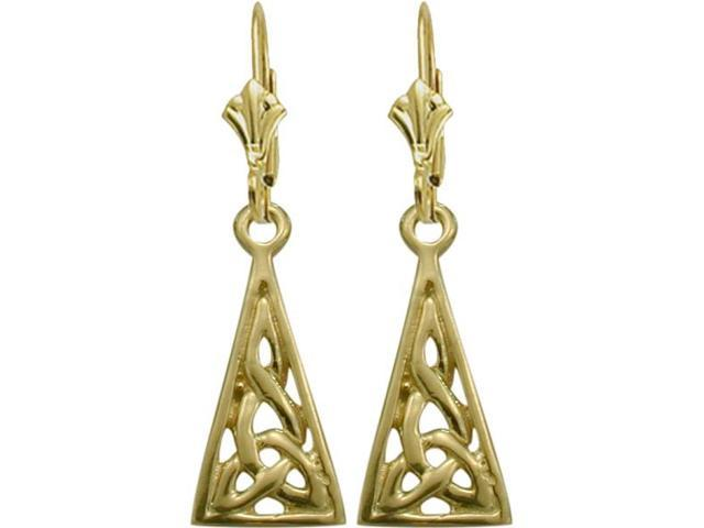 10 Karat Yellow Gold Celtic Earrings