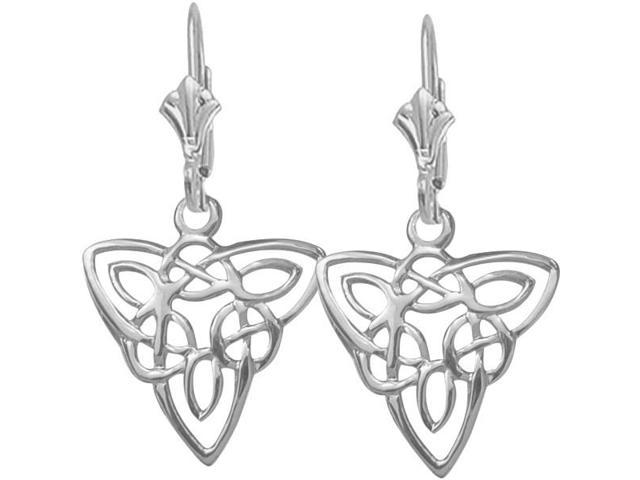 Designer Genuine Sterling Silver Celtic Knot Earrings