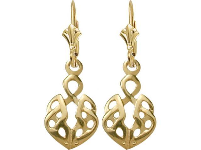 10 Karat Yellow Gold Celtic Earrings