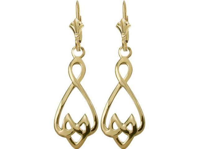 Traditional 10 Karat Yellow Gold Celtic Earrings