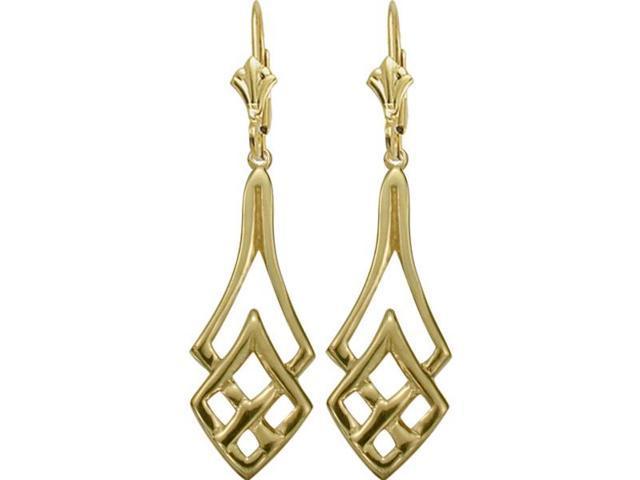 10 Karat Celtic Yellow Gold Earrings