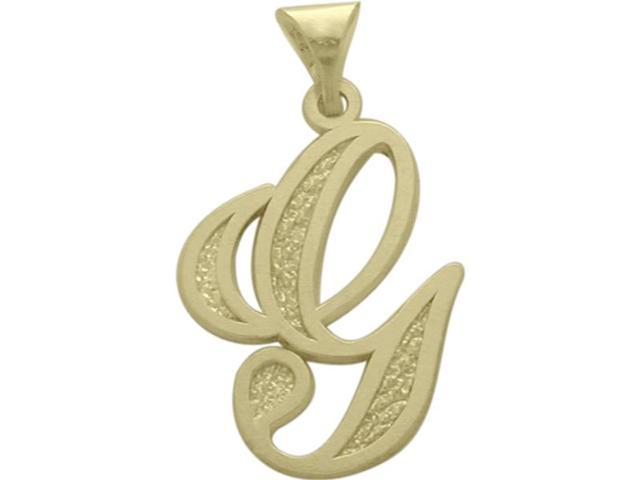 10 Karat Yellow Gold Fancy Initial G Pendant with Chain
