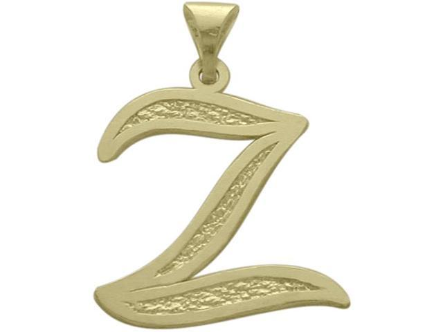 10 Karat Yellow Gold Fancy Initial Z Pendant