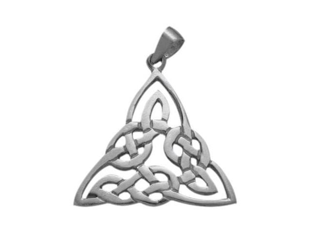 Genuine Sterling Silver Traditional Celtic Knot Pendant with Chain