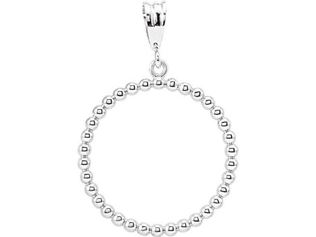 Genuine Sterling Silver Circle Ball Pendant with a chain