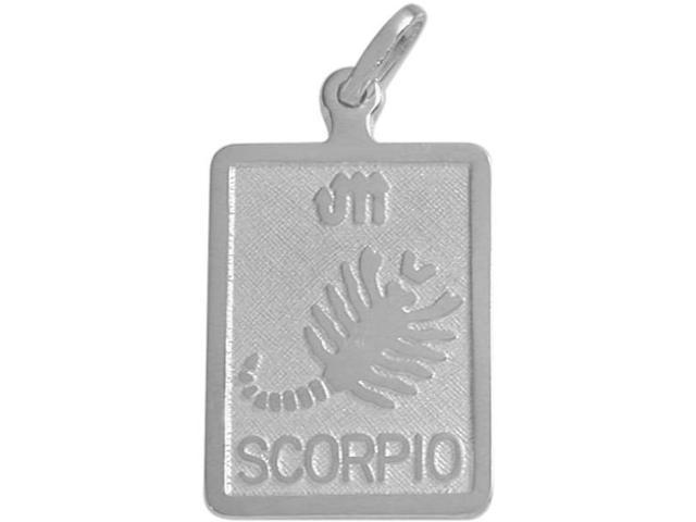 Sterling Silver Scorpio Zodiac Pendant with Chain