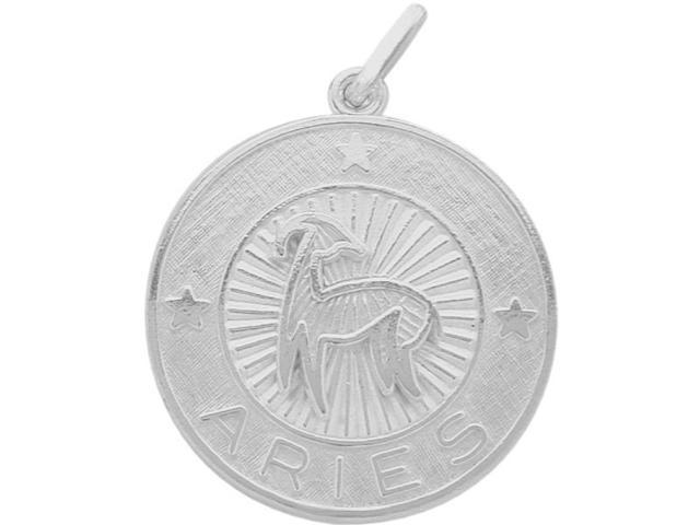 Sterling Silver Aries Zodiac Pendant with Chain, 1 Inch