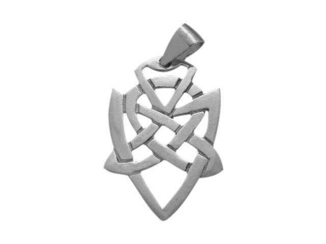 Traditional Sterling Silver Celtic Knot Pendant