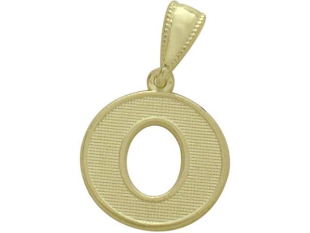 10 Karat Yellow Gold Block Initial O Pendant with Chain