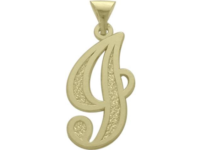10 Karat Yellow Gold Fancy Initial J Pendant with Chain