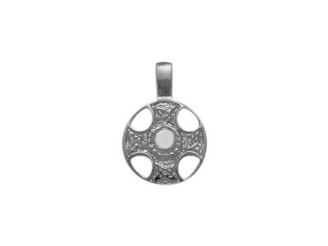 Genuine Sterling Silver Celtic Shield Pendant with Chain