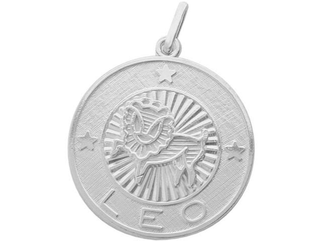 Sterling Silver Leo Zodiac Pendant with Chain, 1 Inch