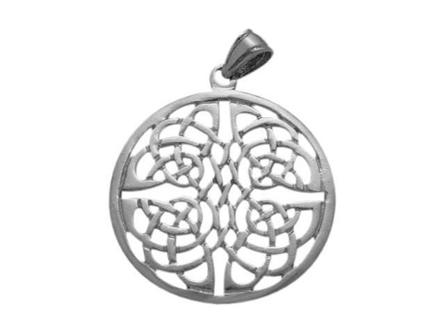 Large Fancy Sterling Silver Celtic Knot Pendant