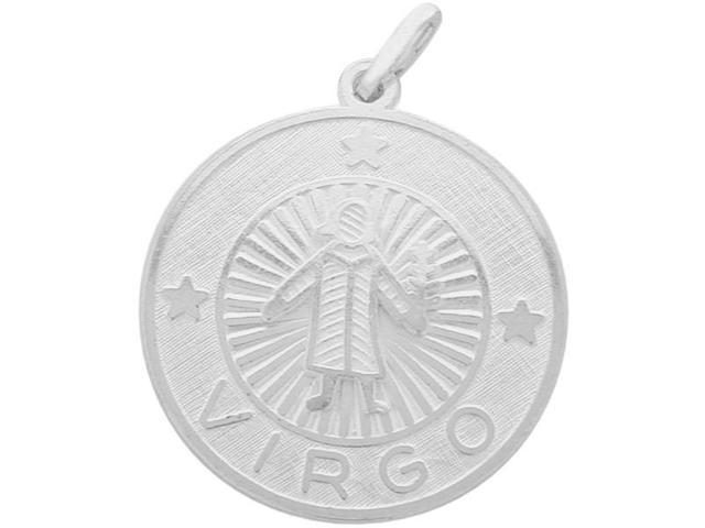 Sterling Silver Virgo Zodiac Pendant with Chain, 1 Inch