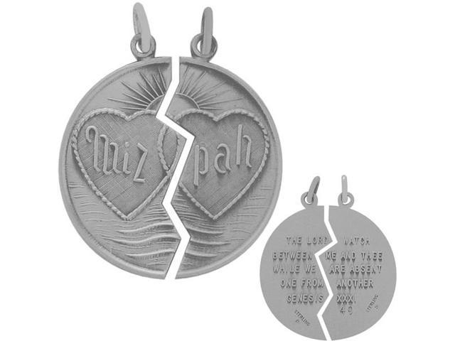 Genuine Sterling Silver Large Jewish Medallion with 2 chain