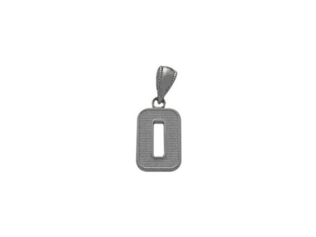 14 Karat White Gold Number 0 Pendant