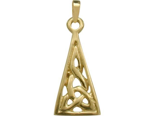 Small 10 Karat Yellow Gold Celtic Pendant with Chain