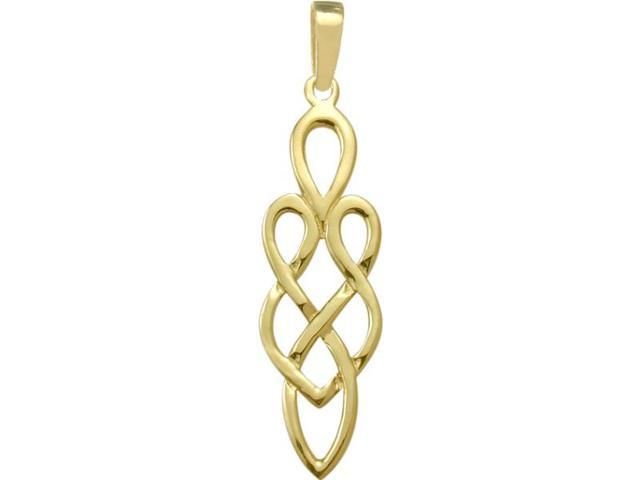 10 Karat Yellow Gold Celtic Style Pendant with Chain