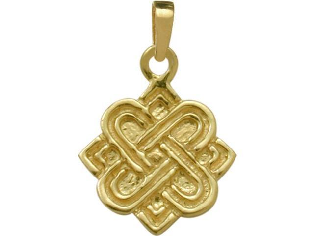 10 Karat Yellow Gold Four Point Knot Celtic Pendant with Chain