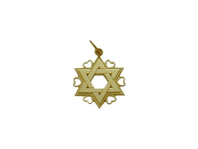 10 Karat Yellow Gold Star of David Jewish Pendant with Chain