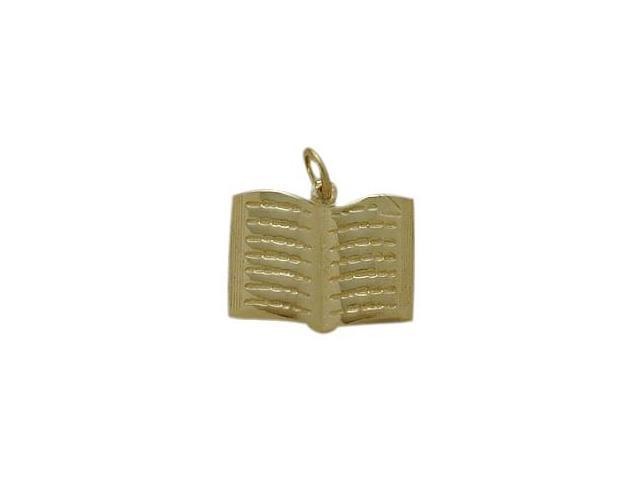 10 Karat Yellow Gold Holy Book Jewish Pendant with Chain