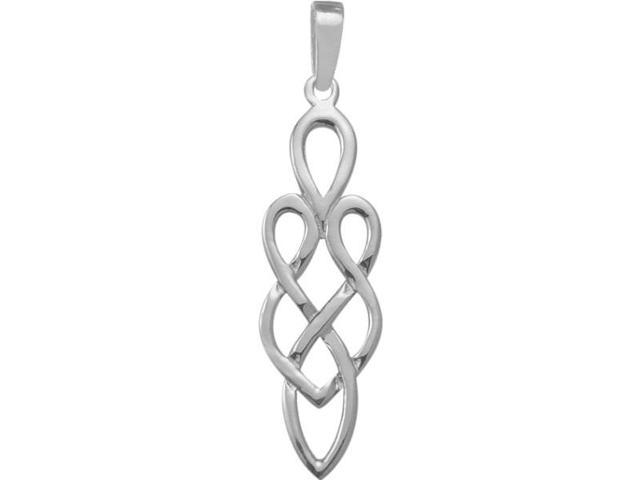 Genuine Sterling Silver Celtic Style Pendant with an 18