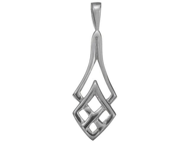 Genuine Sterling Silver Celtic Pendant with an 18