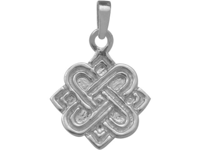 Genuine Sterling Silver Four Point Celtic Knot Pendant with an 18