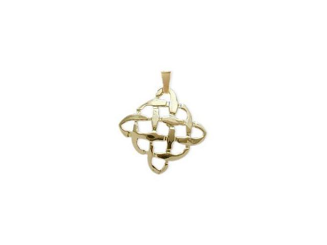 10 Karat Yellow Gold Celtic Knot Pendant with Chain