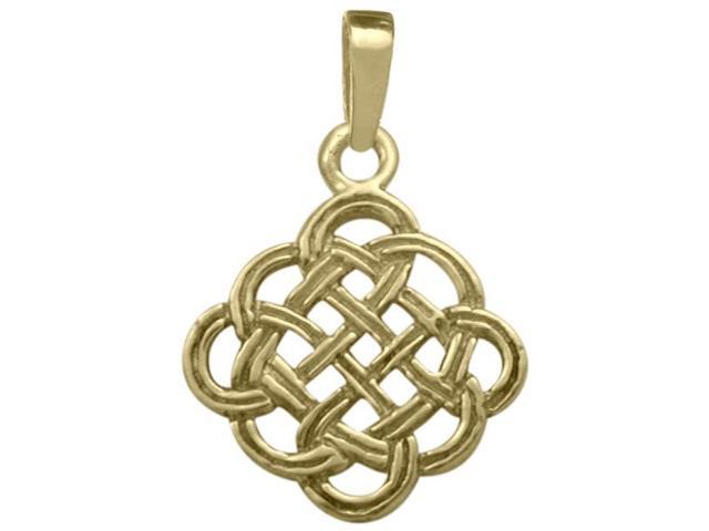Celtic Knot 10 Karat Yellow Gold Pendant with Chain