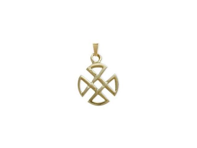 10 Karat Yellow Gold Four Trinity Celtic Pendant with Chain