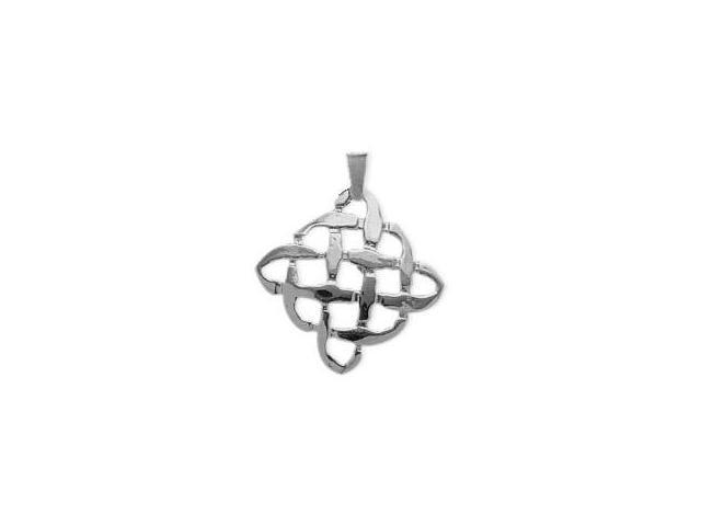 Genuine Sterling Silver Celtic Knot Pendant with an 18