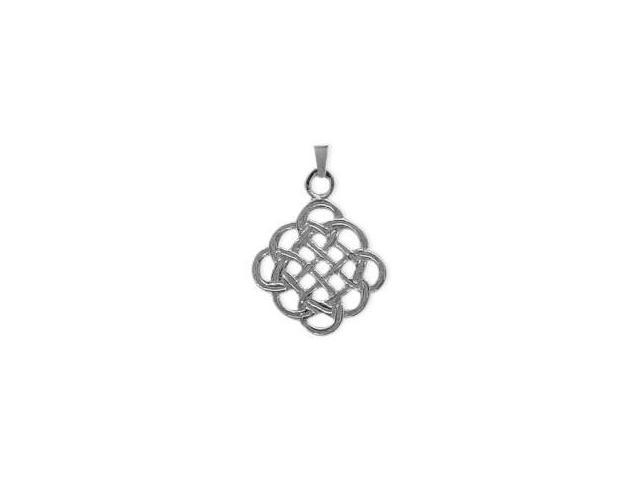 Celtic Genuine Sterling Silver Knot Pendant with an 18