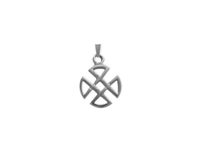Genuine Sterling Silver Four Trinity Celtic Pendant with an 18