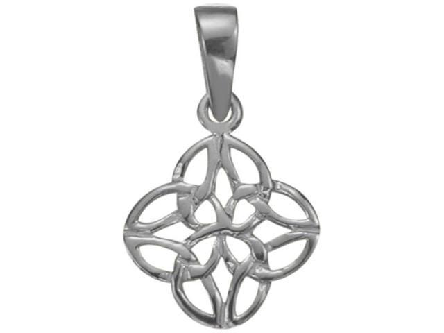 Celtic Knot Genuine Sterling Silver Pendant with an 18