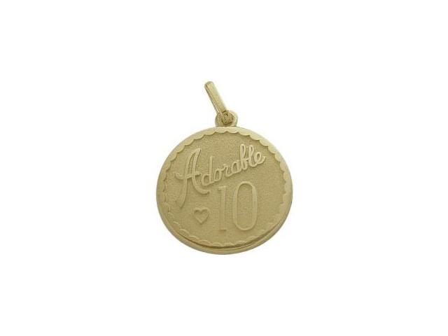 Yellow Gold Adorable #10 Age Expression Pendant with Chain