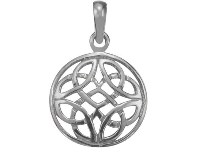 Genuine Sterling Silver Celtic Knot Design Pendant with an 18