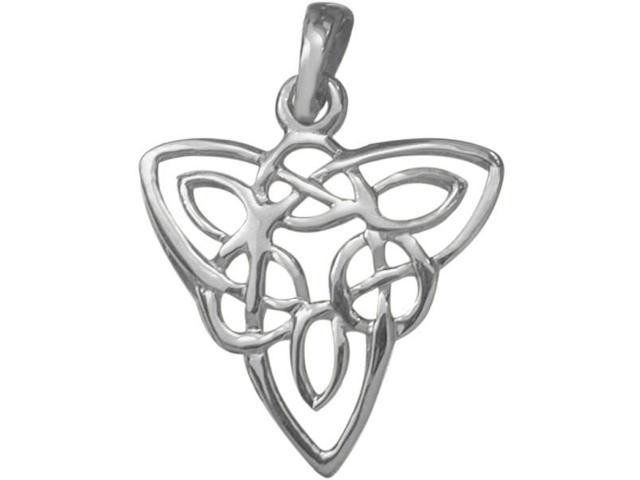 Designer Genuine Sterling Silver Celtic Knot Pendant with an 18