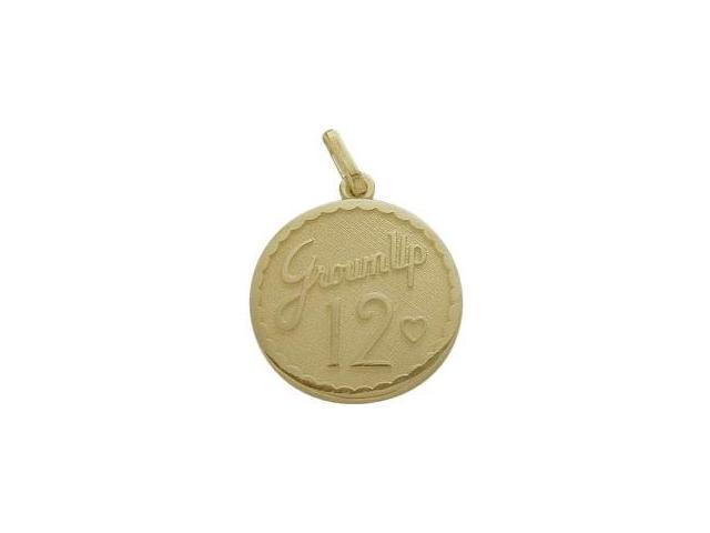 Yellow Gold Grown Up #12 Age Expression Pendant with Chain