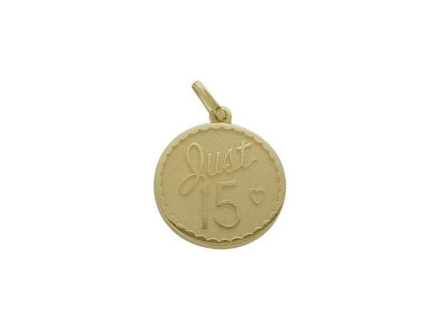 10K Yellow Gold Just #15 Age Expression Pendant with Chain